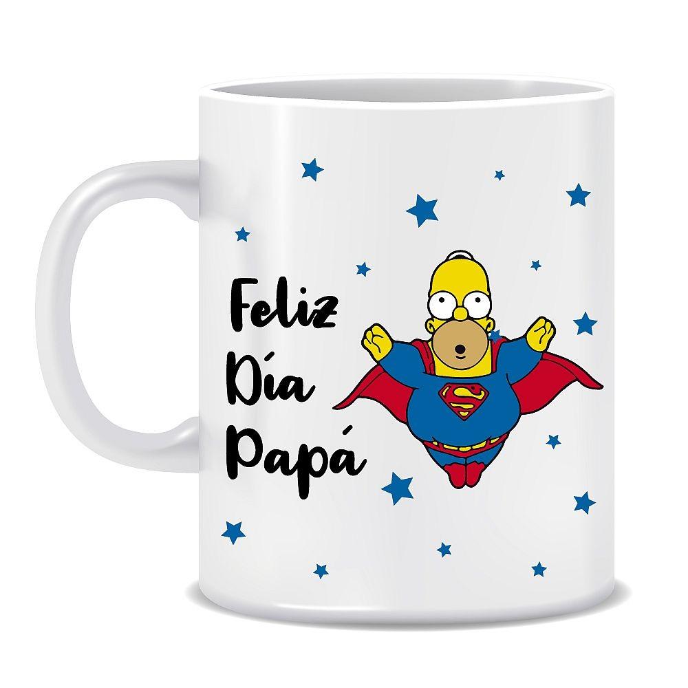 """TAZA """"FELIZ DÍA PAPÁ"""" - HOMERO"""