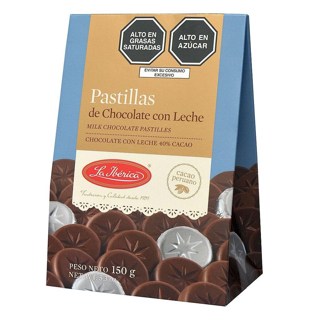 LA IBÉRICA PASTILLAS DE CHOCOLATE CON LECHE (150 GR.)