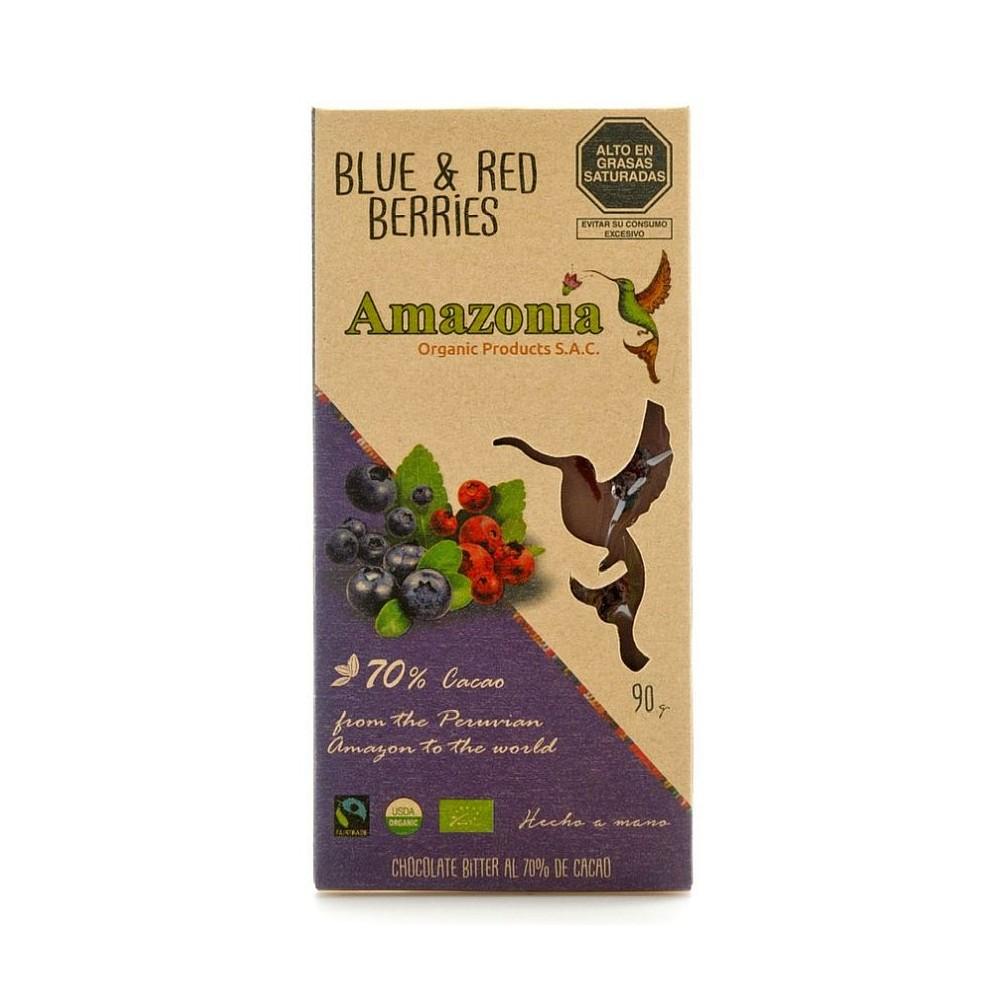 CHOCOLATE AMAZONIA (BLUE & RED BERRIES) - BARRA 90 GR.
