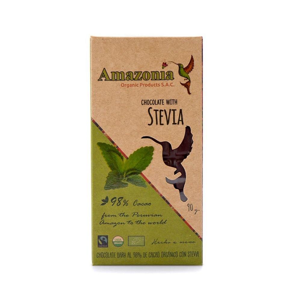 CHOCOLATE AMAZONIA (STEVIA) - BARRA 90 GR.