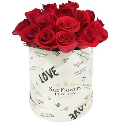 BOX HAPPY LOVE 24 ROSAS