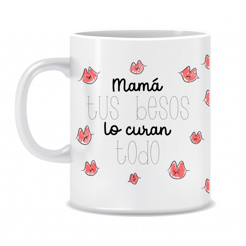 """TAZA """"BESOS DE MAMÁ"""""""