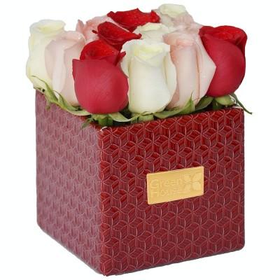 BOX RUBÍ 12 ROSAS